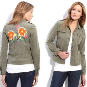 Lucky Brand Jacket Floral Embroidered Jacket XS